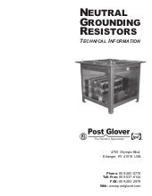 Neutral grounding resistor on