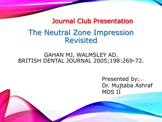 Neutral zone technique Journal club presentation