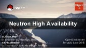 Neutron high availability  open stack architecture   openstack israel event 2015
