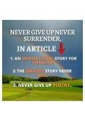 Never give up never surrender