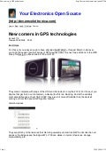 New Comers In Gps Technologies