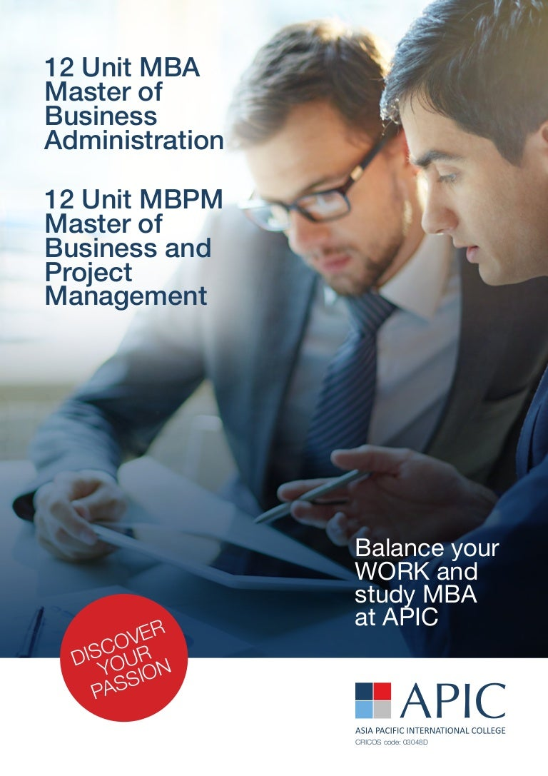 unit mba mbpm masters of business administration master of pro
