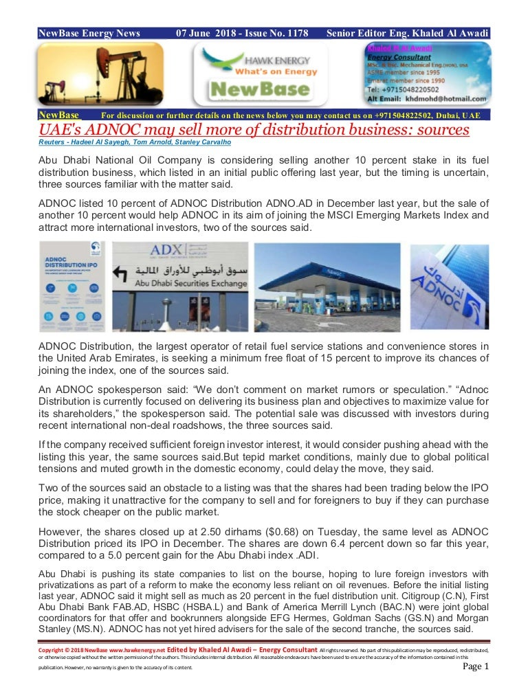 New base 07 june 2018 energy news issue - 1178 by khaled al