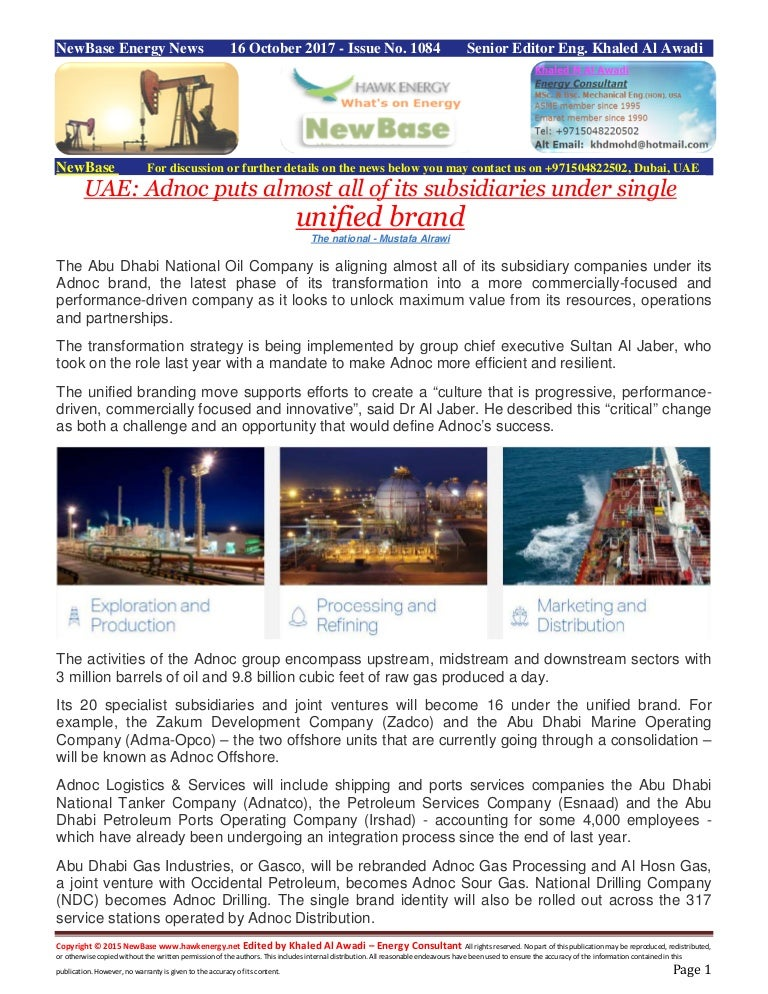 New base 16 october 2017 energy news issue 1085 by khaled al