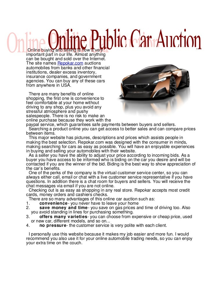 Online Public Car Auction In Usa