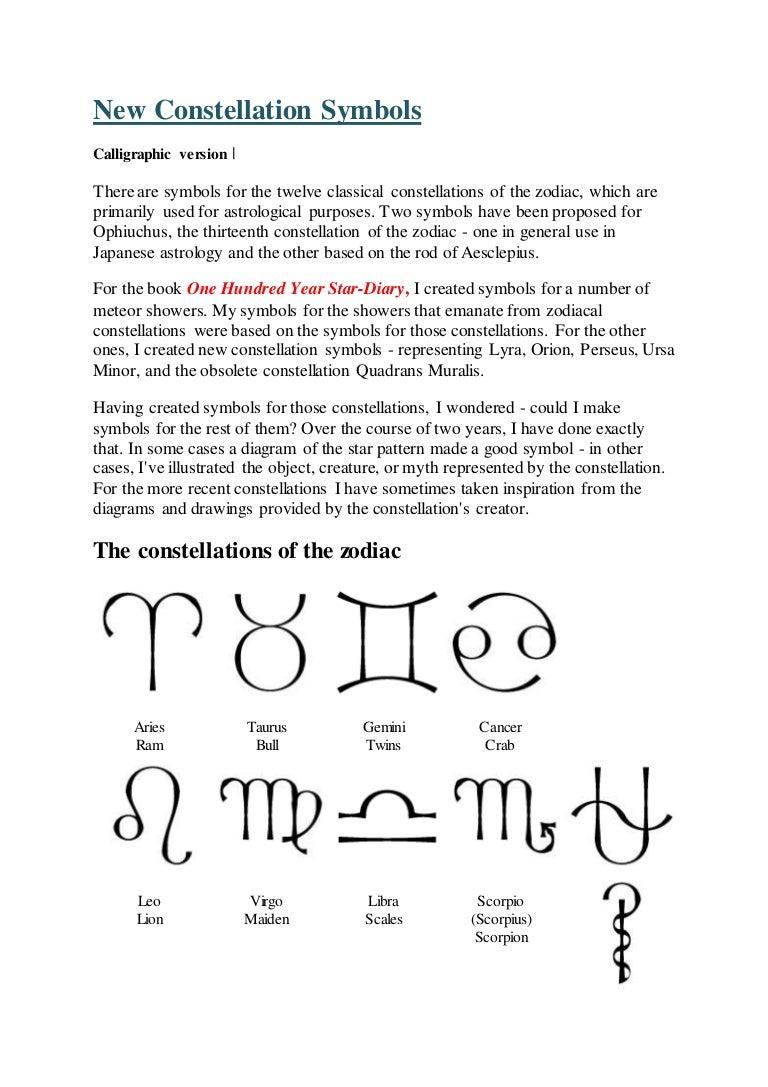 New constellation symbols ( from google com )