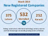 March 2019 - New Registered Companies in Pakistan