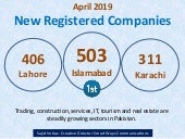 April 2019 - New Registered Companies in Pakistan