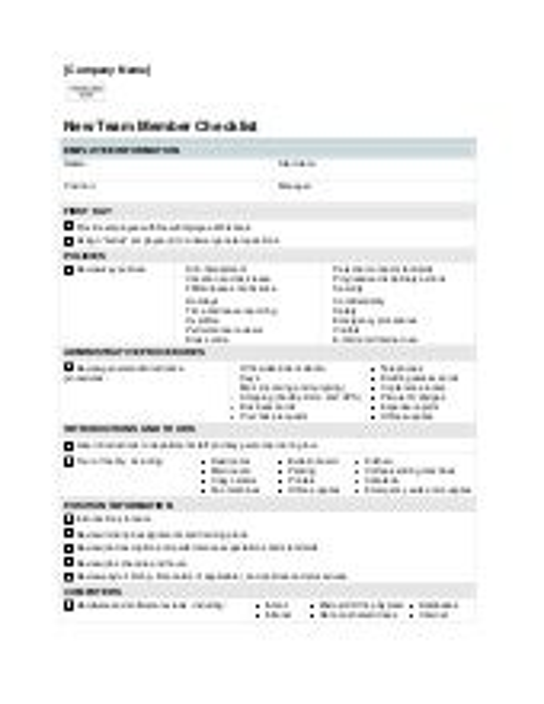 it new employee checklist