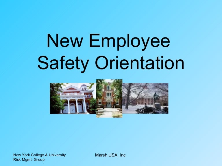 New Employee Safety Orientation by Houghton