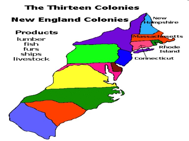 Map Of The 4 New England Colonies.New England Colonies Powerpoint