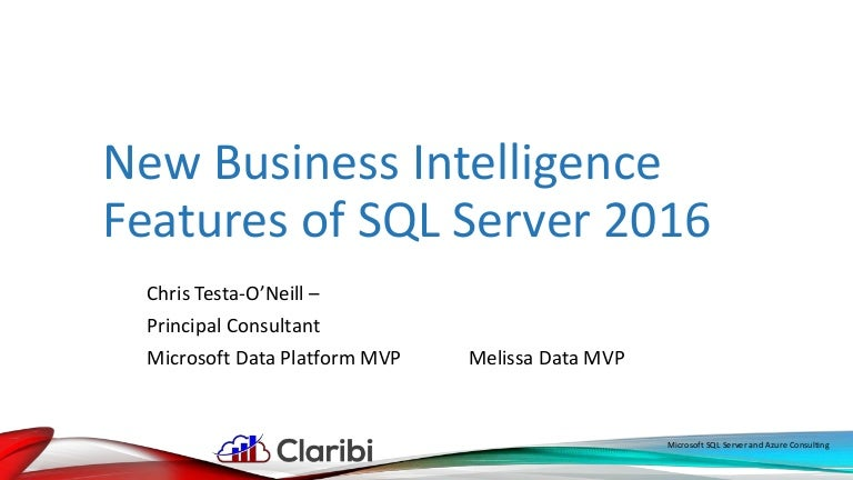 New features of sql server 2016 bi features