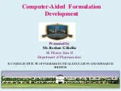 computer aided formulation and development(How to use design expert software)