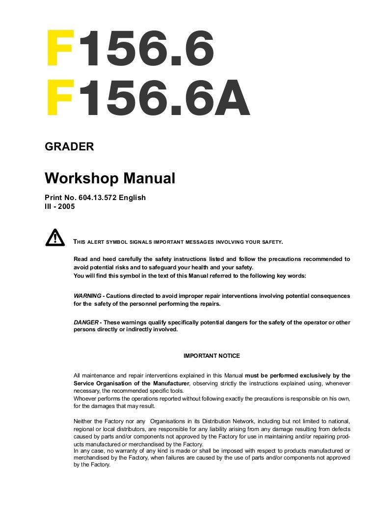 New Holland F1566 A Grader Service Repair Manual Barnes Snow Plow Wiring Diagram