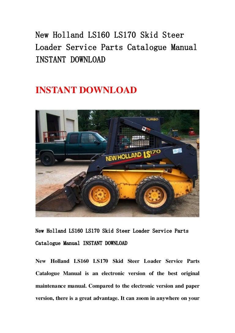 New holland ls160 ls170 skid steer loader service parts catalogue man… new holland ls170 fuse box diagram SlideShare
