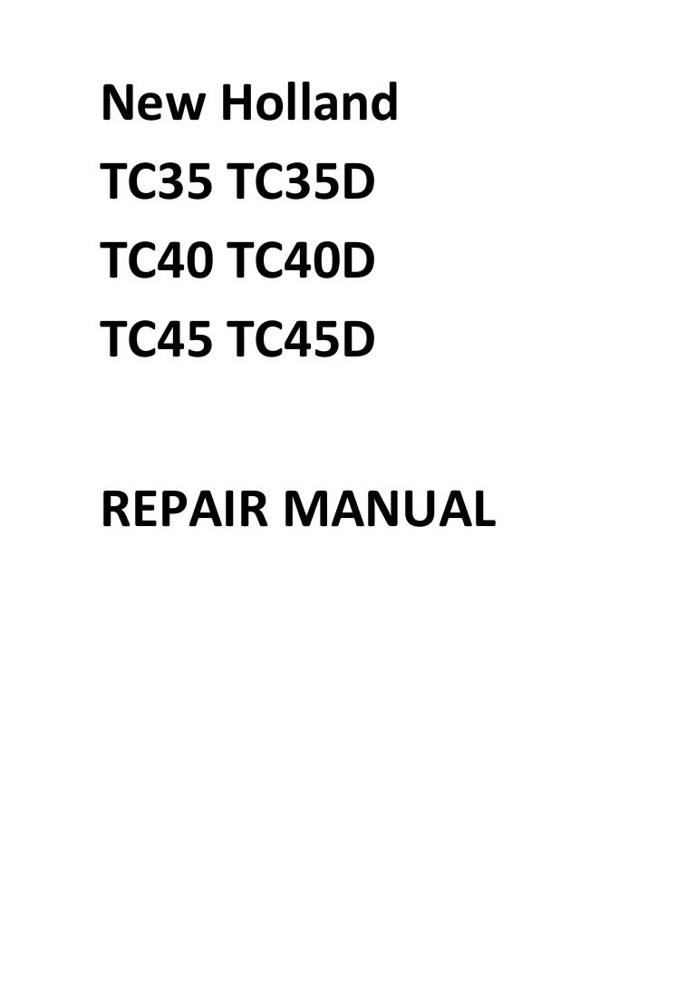 new holland tc35 wiring diagram