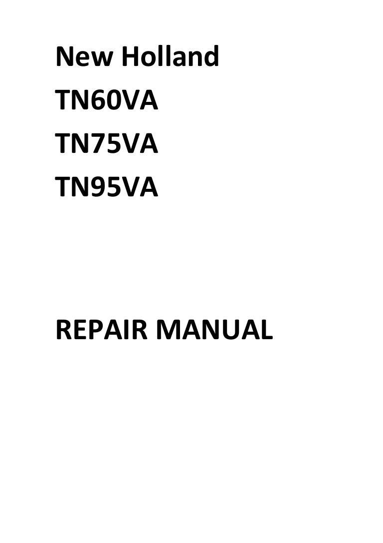 New Holland TN60VA TN75VA TN95VA Manual