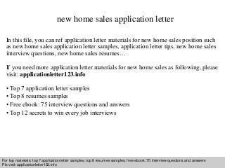 new home sales resume