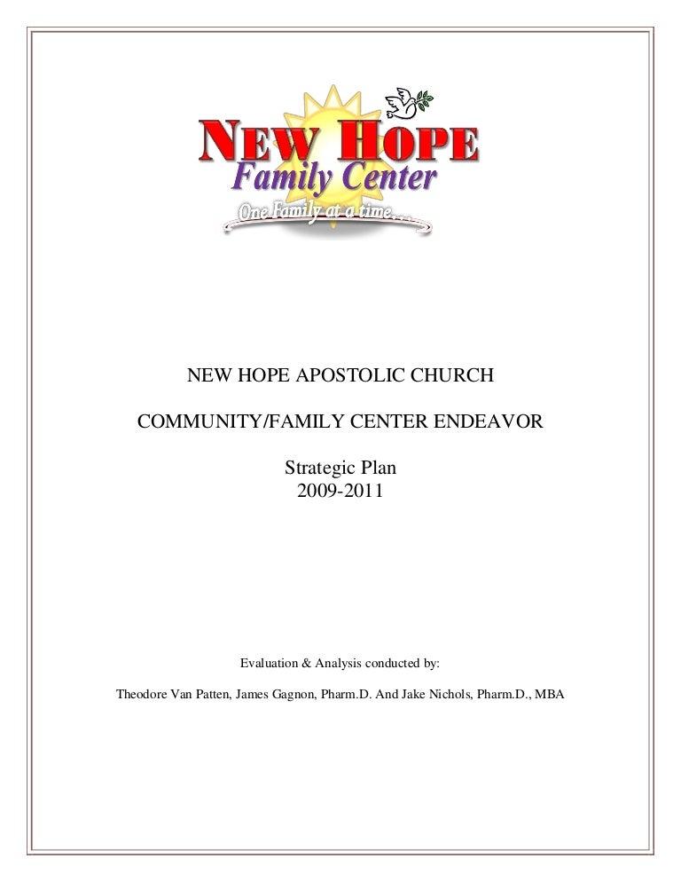 New hope family center strategic plan 2009 2011