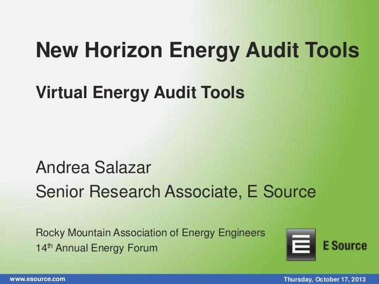 New Horizon Energy Audit Tools