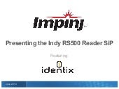 New Indy RS500 Reader SiP Makes Embedding RFID Easy