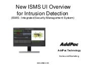 New ISMS Overview For Intrusion Detection