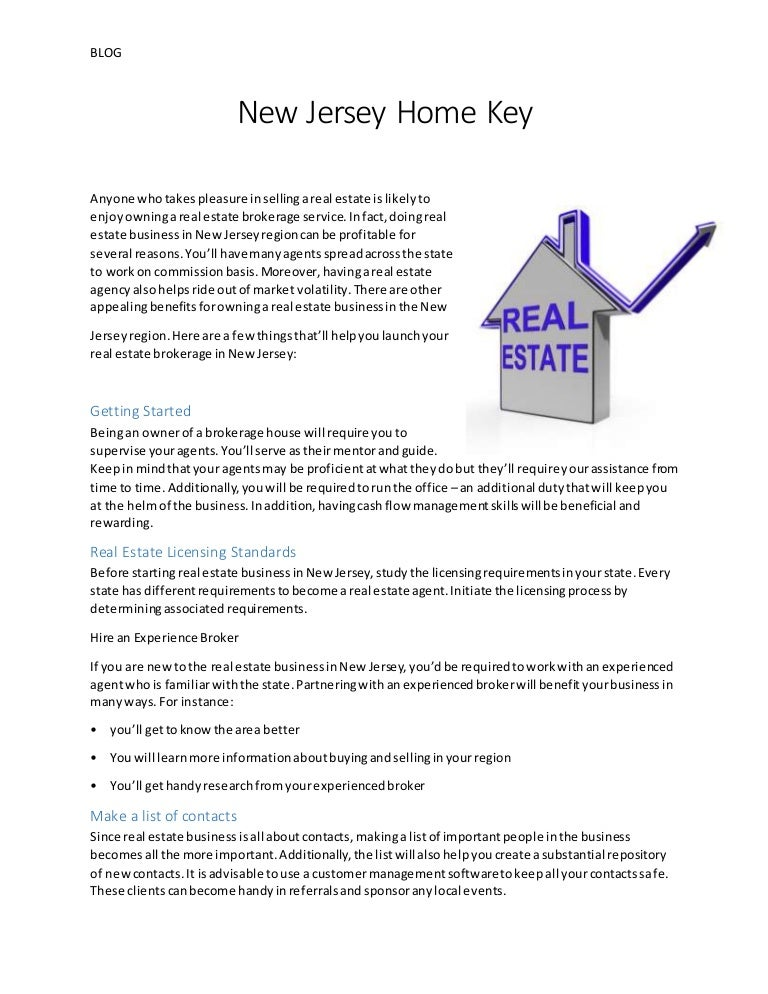 New Jersey Home Key