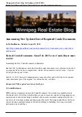 New list of condo documents for Winnipeg Condos(2015)