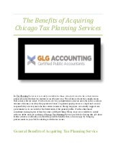Chicago tax planning offers variety of financial advisory services | GLG Accounting(1)