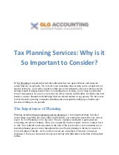 Tax planning, we offer a variety of financial advisory services | GLG Accounting