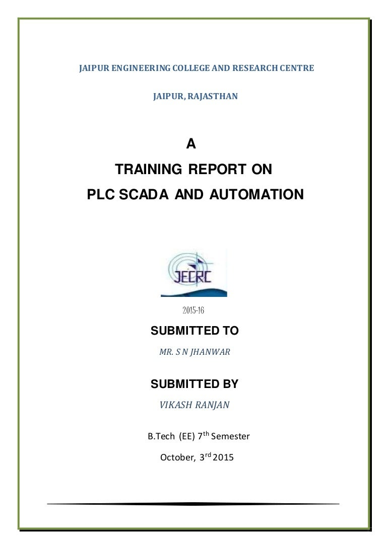 Traning Report On Plc Scada And Automation Ladder Diagram Of Is Divided Into Figure