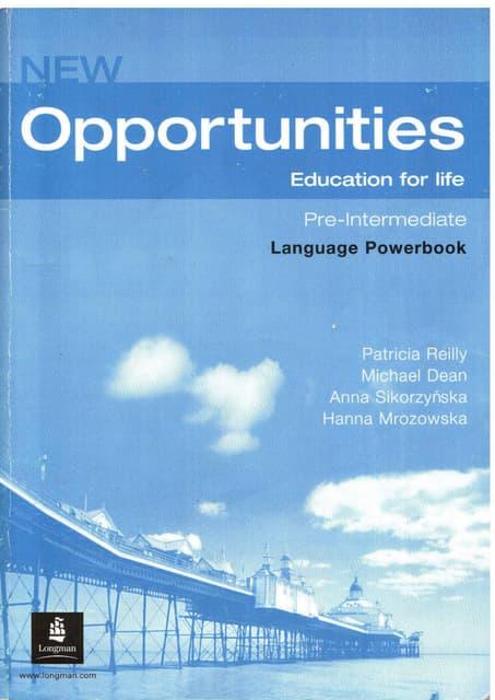New Opportunities Intermediate Teachers Book