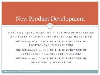 New product development rev 12