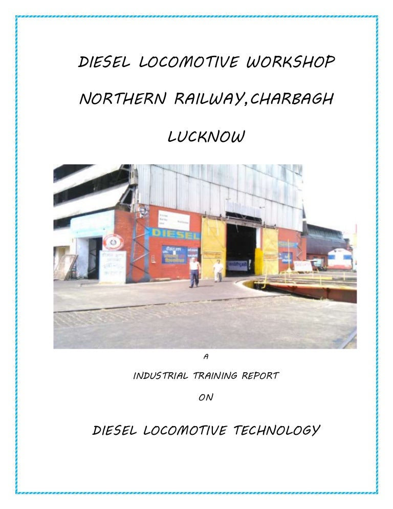 industrial training report on diesel locomotive technology report 201 rh slideshare net Maintenance Manual Template Cessna MAINTEANCE Manual