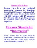 New Reviews on Dreamz Infra India by Happy Customers