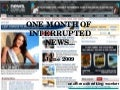 One Month of Interrupted News