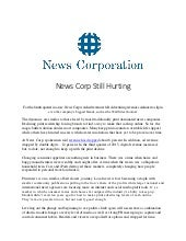 News Corp Still Hurting