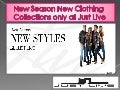 New Season New Clothing Collections Only at Just Live