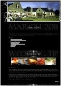 Tramonto Wedding Venue Newsletter - March 2011