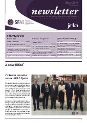 Newsletter SFAI Spain Mayo 2015