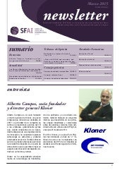 Newsletter SFAI Spain Marzo 2015