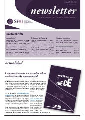 Newsletter SFAI Spain Abril 2015