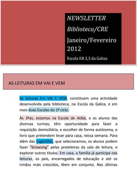 News letter janeirofevereiro2012
