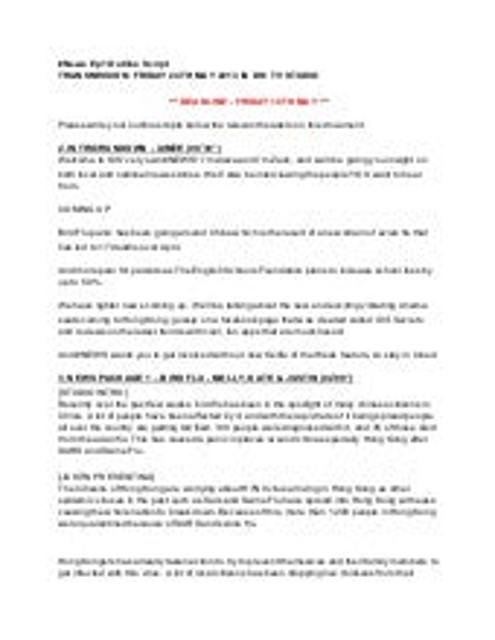 News Outline Script