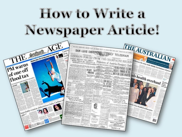 how to write a newspaper article for kids