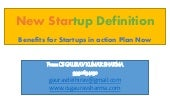 New startup definition by DIPP