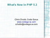 New Stuff In Php 5.3