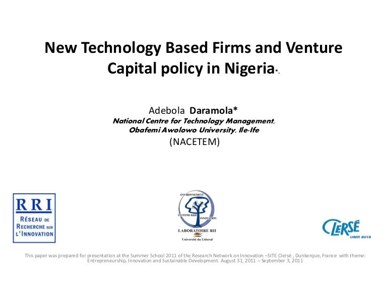 New Technology Based Firms and Venture Capital policy in