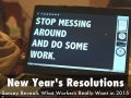 Survey Says! Top 5 New Year's Resolutions for Work