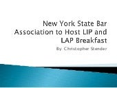 New York State Bar Association to Host LIP and LAP Breakfast